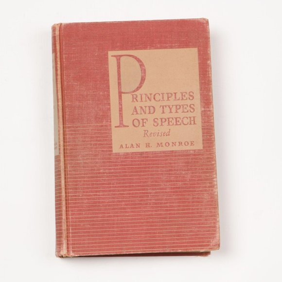 Vintage 1939 Principles and Types of Speech Book